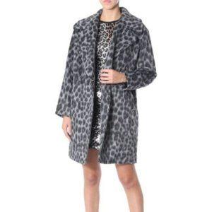 NWT Leopard Print Michael Kors Long Pea Coat